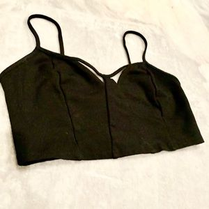 Wet Seal Black Crop Top/Bralette